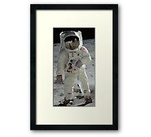 Moon Walk - Apollo Astronaut Framed Print