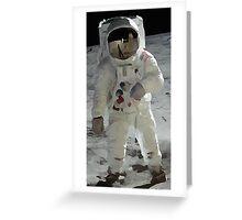 Moon Walk - Apollo Astronaut Greeting Card