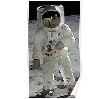 Moon Walk - Apollo Astronaut Poster