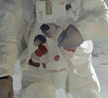 Moon Walk - Apollo Astronaut Sticker