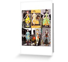 Paper Doll Fashion Fairytale Collection Greeting Card