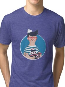Funny Sailor Tri-blend T-Shirt