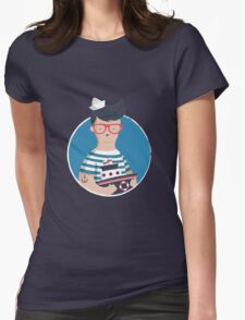 Funny Sailor Womens Fitted T-Shirt