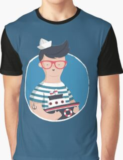 Funny Sailor Graphic T-Shirt