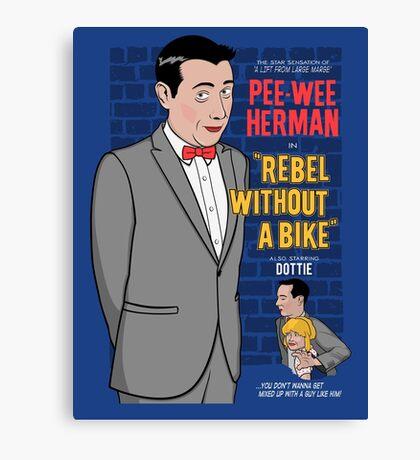 Rebel Without A Bike Canvas Print