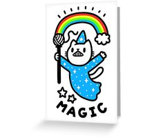 Magical Wizard Cat Greeting Card