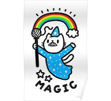 Magical Wizard Cat Poster