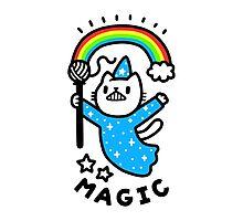 Magical Wizard Cat Photographic Print