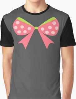 Polka Dot Bow Graphic T-Shirt