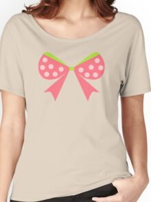 Polka Dot Bow Women's Relaxed Fit T-Shirt