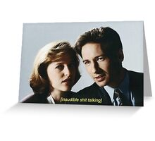 Mulder and Scully  Greeting Card