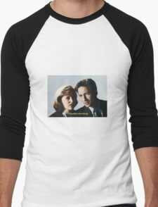 Mulder and Scully  Men's Baseball ¾ T-Shirt