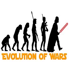the evolution of wars Photographic Print