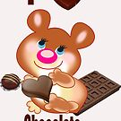 Teddy I Love chocolate  (6245  Views) by aldona
