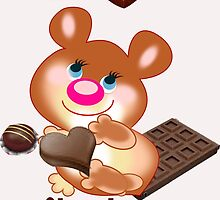 Teddy I Love chocolate  (5340  Views) by aldona
