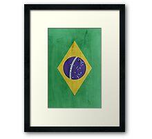Flag Brazil Framed Print