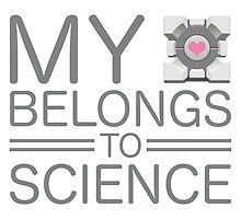My Heart Belongs to Science ~ Companion Cube by oxyrrhis