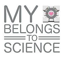 My Heart Belongs to Science ~ Companion Cube Photographic Print