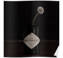 Hendricks Gin Bottle with Dandelion Poster