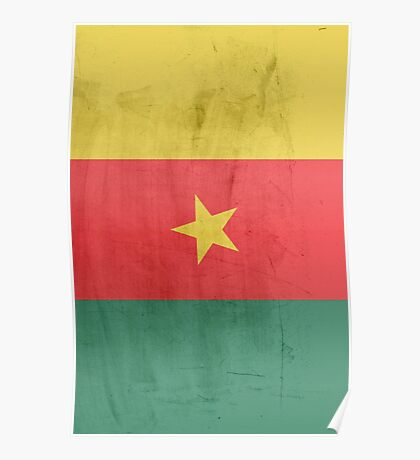 Flag cameroon Poster