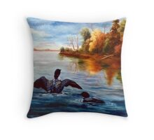 Loon Dance Throw Pillow