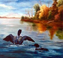 Loon Dance by Brenda Thour