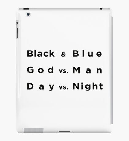 Black and Blue- Batman v Superman iPad Case/Skin