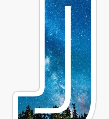 The Letter J - Starry Night Sticker