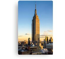 Empire State Building At Dusk Canvas Print