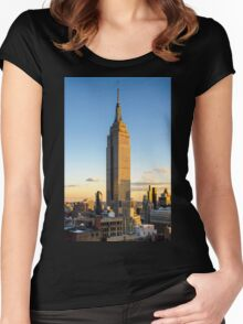 Empire State Building At Dusk Women's Fitted Scoop T-Shirt