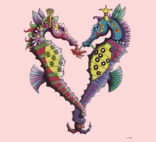 Seahorses in Love One Piece - Short Sleeve