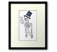 Tape Skeleton Framed Print