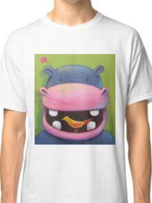 Hippo loves birds Classic T-Shirt