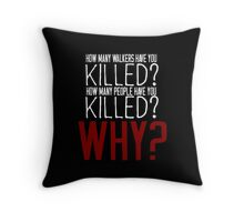 The Walking Dead Killer Questions Throw Pillow