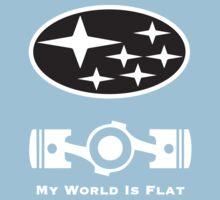 My World is Flat Subaru One Piece - Short Sleeve