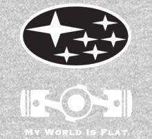 My World is Flat Subaru One Piece - Long Sleeve