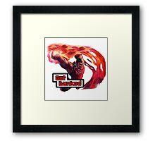 Dunk Master Darius, Get Dunked Framed Print