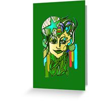 Lady Earth Greeting Card