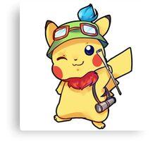 Pikachu Teemo Hybrid Canvas Print