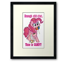 Pinkie Pie - Time is CANDY! Framed Print
