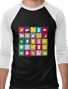 Animal squares Men's Baseball ¾ T-Shirt