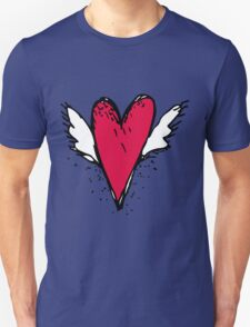 Red heart with wings T-Shirt