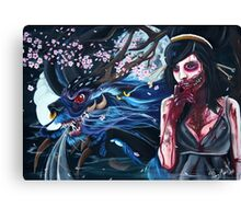 Moon Hunger Canvas Print