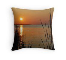 Sunset Through the Reeds Throw Pillow