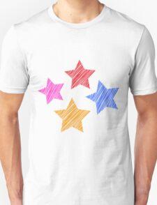 Stars on black Unisex T-Shirt