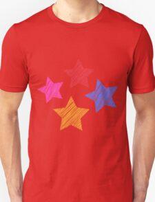 Stars on black T-Shirt