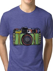 Vintage camera and bicycles Tri-blend T-Shirt