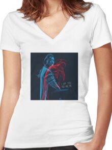 I AM YOU, YOU ARE ME. (너는 나 나는 너) Women's Fitted V-Neck T-Shirt