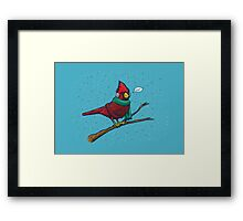 Annoyed IL Birds: The Cardinal Framed Print