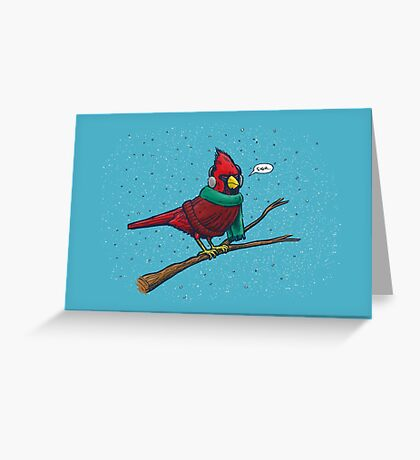 Annoyed IL Birds: The Cardinal Greeting Card